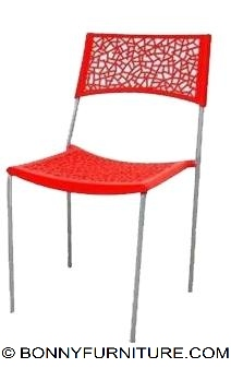 8009 Plastic Chair red