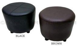 divani stool round black brown