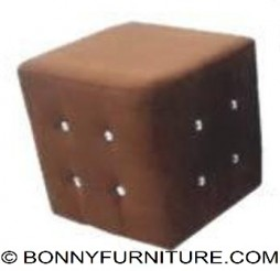 Jewel Square Stool (brown)