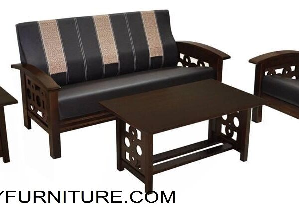 Luciano Wooden Sofa Set 311