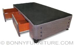 orlando bed box with drawer - van dyke brown