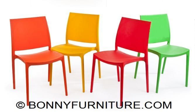 Orange Plastic Chair jasmine plastic chair (cofta) - bonny furniture