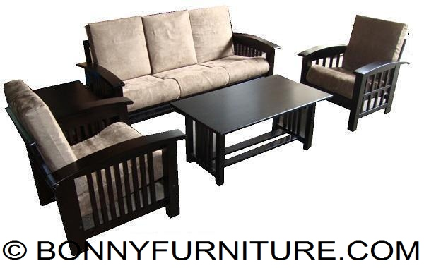 Slat Wooden Sala Set 311 - Bonny Furniture