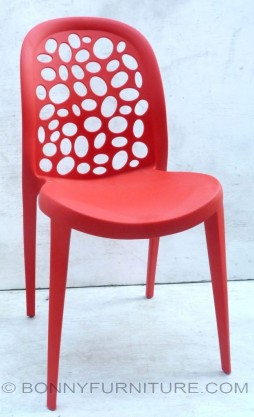 XRB-038 Red Plastic Chair