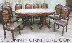 T01-C02 Marble Dining Set 8s