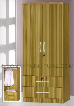 262 wardrobe cabinet 2-doors with drawers bamboo