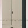 262 wardrobe cabinet 2-doors with drawers black-white