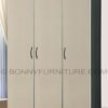 360 wardrobe cabinet 3-doors with drawers black-white