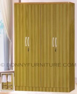 460 wardrobe cabinet 4-doors wenge bamboo