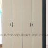 460 wardrobe cabinet 4-doors wenge black-white