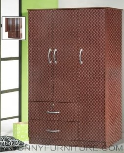 522 wardrobe cabinet 3-doors with drawer wenge