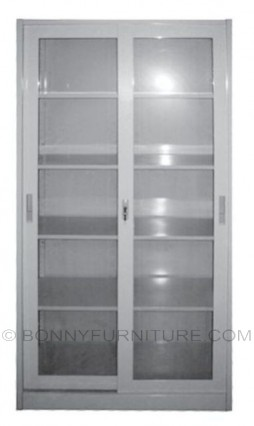 as-017 metal cabinet glass sliding door