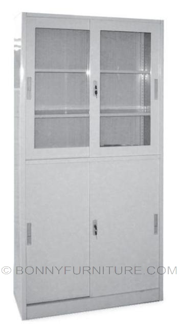 as-018 metal cabinet half-glass