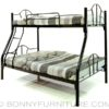 colin bunk bed double deck black