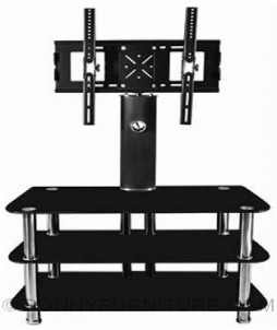 jit-svj37 tv stand with bracket tempered glass