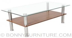 jit-tmct144b center table clear glass top
