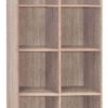 2054 open shelf bookshelf sonoma oak
