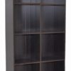 2054 open shelf bookshelf wenge side