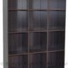 2055 open shelf bookshelf wenge side