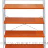 520 shelf rack orange metal