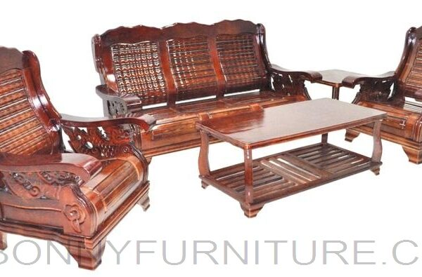 609 Wooden Sofa Set 311