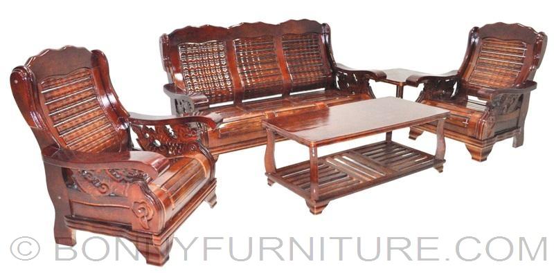 609 wooden sofa set 311 bonny furniture for Sala set furniture