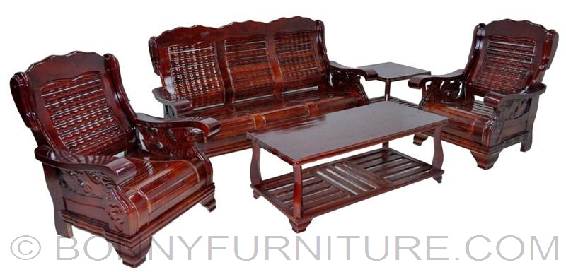 All Wood Sofa ~ Wooden sofa set bonny furniture