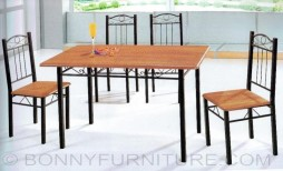 a-086-b-086 dining set 4-seaters metal frame laminated top