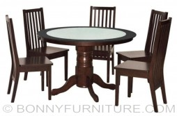 dt-122tg-dt482ef-dc727w round dining table 6-seaters