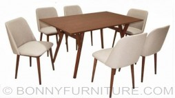 daphne 6-seaters dining set cushion seat