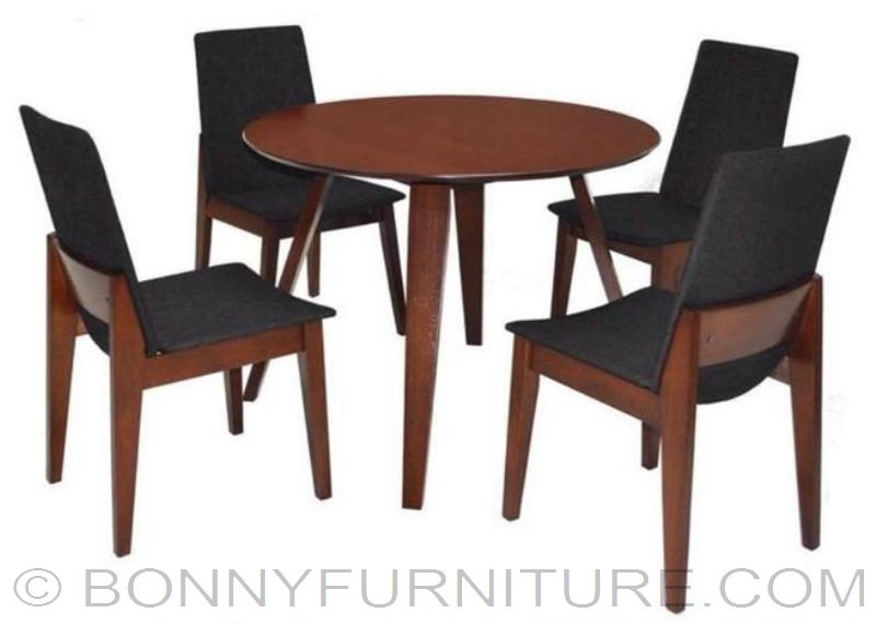 Darragh 4 Seaters Dining Set Round Table