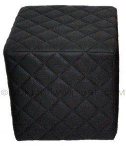 Diamond Stitch stool (black)
