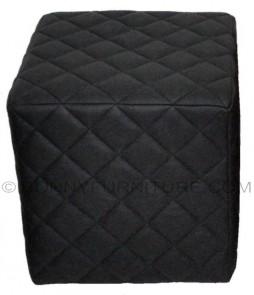 Diamond Stitch stool (black)