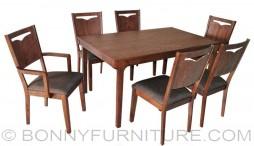 eva dining set 6-seater cushion seats