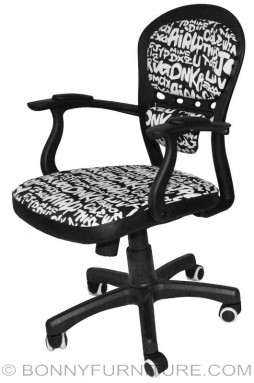 f-20 office chair with print black