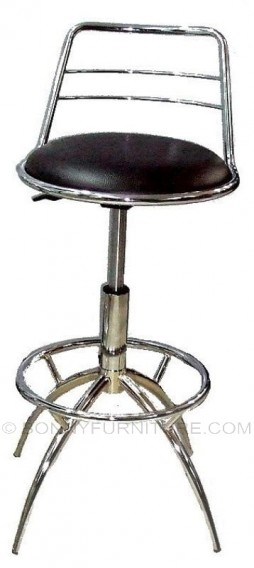 hk-6047 bar chair high black