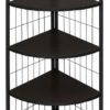 j-04 corner stand 4-layer shelf black
