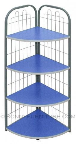 j-04 corner stand 4-layer shelf blue