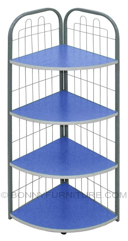 j-04 corner stand 4-layer shelf blue