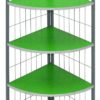 j-04 corner stand 4-layer shelf green