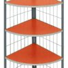 j-04 corner stand 4-layer shelf orange