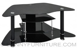 night crystal-12 tv stand glass