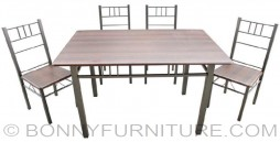 dining set sk-2468 4-seater sk-6868 6-seaters metal frame laminated top