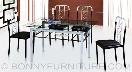 dining set sk-g34 4-seater sk-g36 6-seaters metal frame