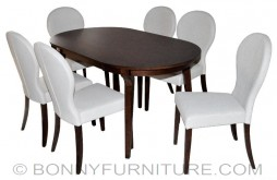 sk-t497-sk-1198-741f dining set 6-seaters