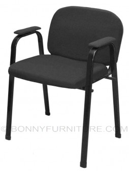 sm-135 visitor chair with arm black