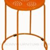 steel chair stool orange