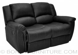 T 0823 Recliner Chair Relax 2 Seater Black