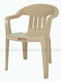 topaz plastic chair with arm beige