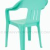 topaz plastic chair with arm green back view